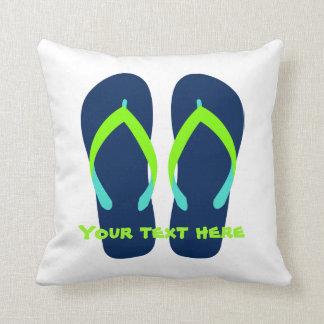 O verde azul feito sob encomenda Flip-Flops o Travesseiros