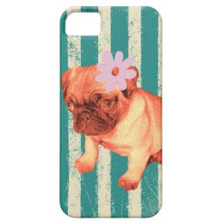 o verde bonito da margarida do filhote de cachorro capa barely there para iPhone 5