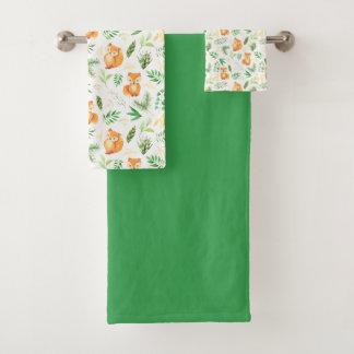 O verde bonito do Fox deixa a toalha verde