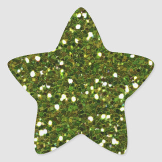 O verde brilha etiqueta adesito estrela