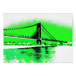 O verde de néon reduz o cartão