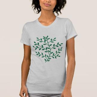 O verde deixa a decoração verde da folha do ramo camiseta