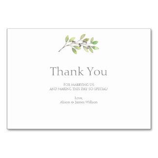 O verde deixa cartões de agradecimentos do