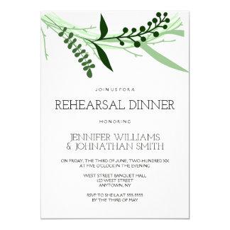 O verde deixa convites do jantar de ensaio
