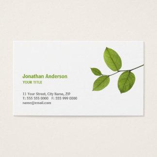 O verde deixa o cartão de visita