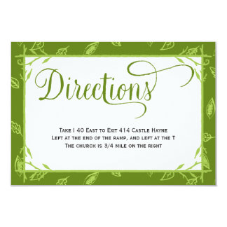 O verde deixa o cartão dos sentidos do casamento convite 8.89 x 12.7cm