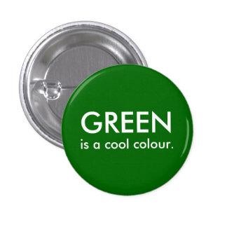O verde é uma cor legal bóton redondo 2.54cm
