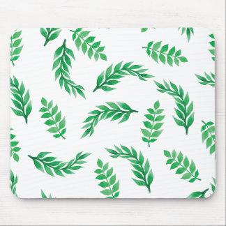 O verde elegante de Ditsy deixa | Mousepad