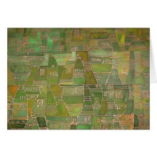 O verde gosta do cartão de Klee