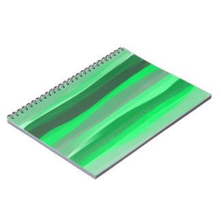 O verde protege o caderno