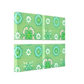 O verde retro da hortelã do Bandanna esticou o imp Impressão Em Canvas