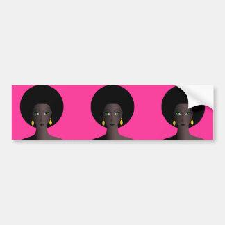 O verde retro do Afro dos anos 70 Eyed a figura do Adesivo