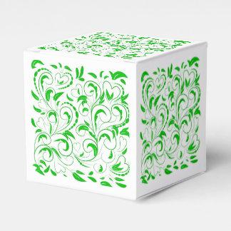 O verde roda com folhas caixinha de lembrancinhas para festas