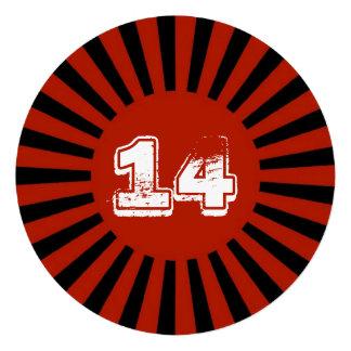 O vermelho a festa de aniversário adolescente do