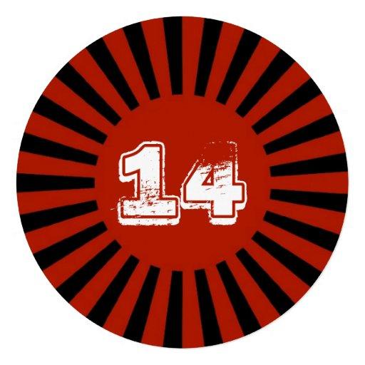 O vermelho, a festa de aniversário adolescente do  convite personalizados