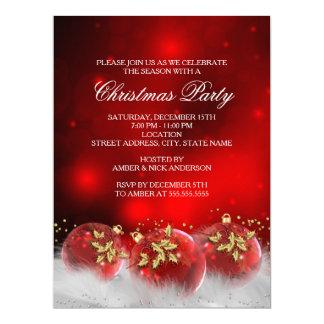 O vermelho & a festa de Natal dos Baubles do Convite 16.51 X 22.22cm