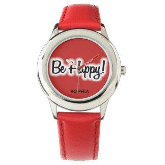 O vermelho bonito do divertimento seja o relógio
