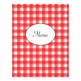 O vermelho do menu do restaurante verifica o model panfleto personalizados