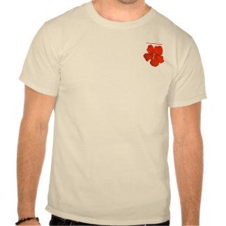O ~ vermelho do t-shirt do bolso do hibiscus