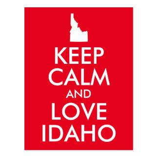 O vermelho e o branco mantêm a calma e amam Idaho Cartão Postal