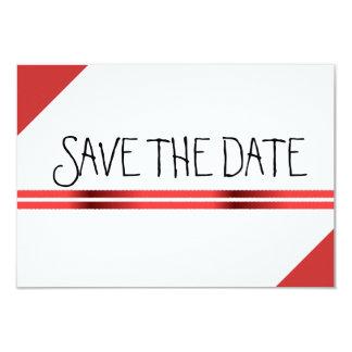 O vermelho e o branco salvar a data convite personalizados
