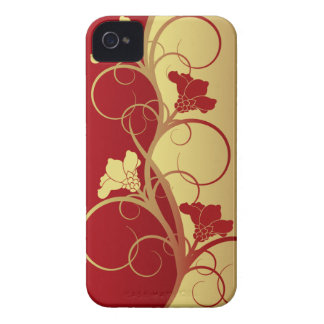 O vermelho/ouro floresce mal lá capinhas iPhone 4