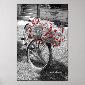 O vermelho preto e branco da bicicleta do vintage