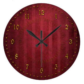O vermelho rico descascou o Grunge numerado Relógio Grande