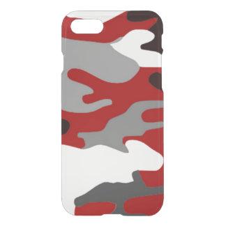 O vermelho sombreia Camo Capa iPhone 7