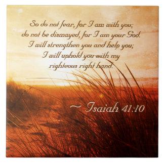 O verso da bíblia do 41:10 de Isaiah não teme que