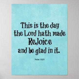 O verso da bíblia isto é o dia onde o hath do pôsteres