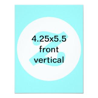 o vertical 4.25x5.5 convida convite 10.79 x 13.97cm