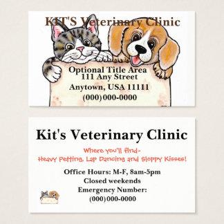 O veterinário Pets o cartão de visita do abrigo do