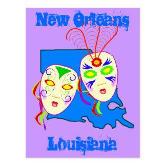 O viagem de Louisiana promove o carnaval do cartão