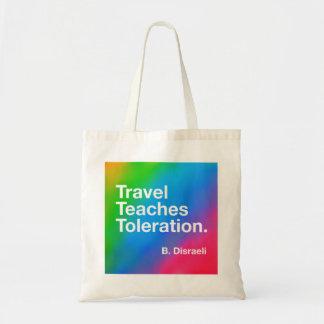 O viagem ensina o bolsa da tolerância