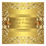 O Victorian do ouro floresce o aniversário do ouro Convite Personalizado