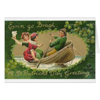 O Victorian Erin vai cartão do dia de Bragh St