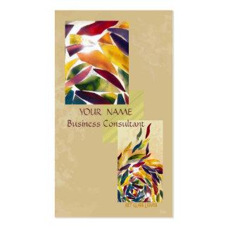 O vidro da arte sae do cartão de visita excelente