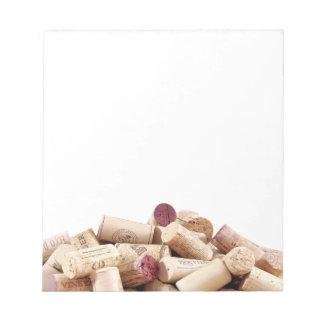 O vinho arrolha o bloco de notas