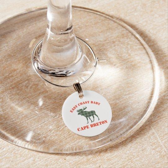 O vinho bretão do Tartan do cabo encanta alces Enfeites De Taças De Vinho