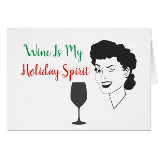 O vinho é meu cartão de Natal do espírito do