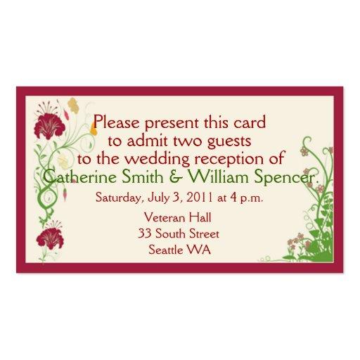 O vinho limitou cartões da recepção de casamento modelo cartoes de visita
