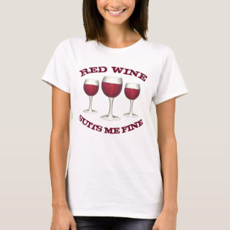 O vinho tinto sere-me amante de vinho engraçado camiseta
