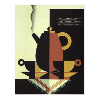 O vintage bebe o pote do café das bebidas com copo convites personalizados