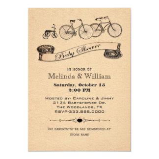 O vintage Bicycles o convite do chá de fraldas