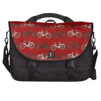 O vintage branco preto vermelho Bicycles a ciclage Maletas Para Laptop