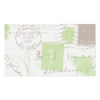 O vintage carimba cartões de visitas do negócio II