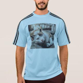 O vintage colore o gato camiseta