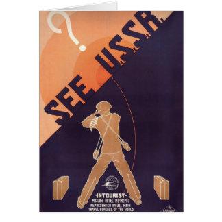 O vintage considera URSS viajar Cartão Comemorativo