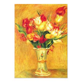O vintage de Renoir das tulipas floresce o Convite